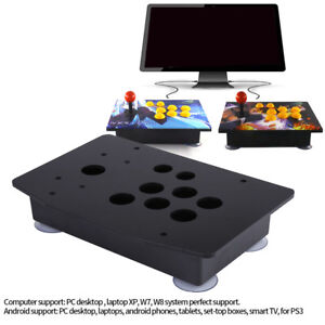 DIY-Arcade-Game-Joystick-Acrylic-Panel-Black-Case-Shell-Set-Replacement-Parts