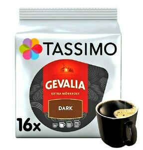 1 x Pack Tassimo Gevalia Dark Extra Morkrost T Discs Pods - 16 Drinks