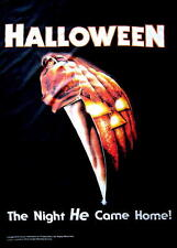 """HALLOWEEN FLAGGE / FAHNE """"THE NIGHT HE CAME HOME"""" POSTER FLAG"""