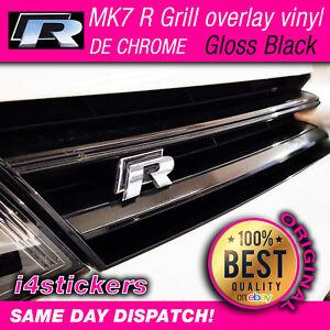 VW-Mk7-Golf-R-Grill-Vinyl-MK7-Splitter-Lip-Overlay-KIT