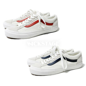 bfad92c91dc4e6 Vans Old Skool Style 36 Suede Marshmallow Racing Red Dress Blue ...