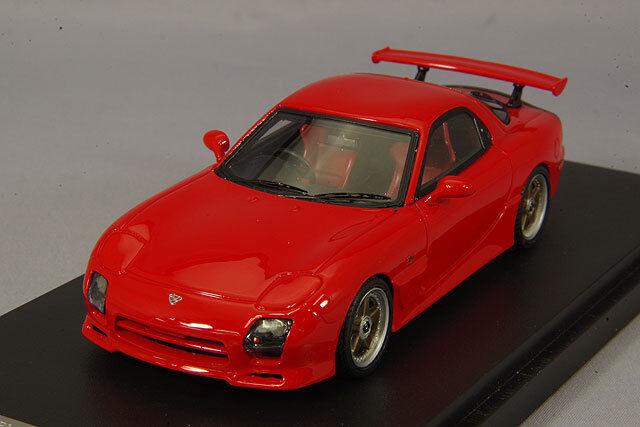1 43 Mark 43 Mazda RX-7 FD3S Mazda velocidad especificaciones GT ala Vintage rosso PM4367CR