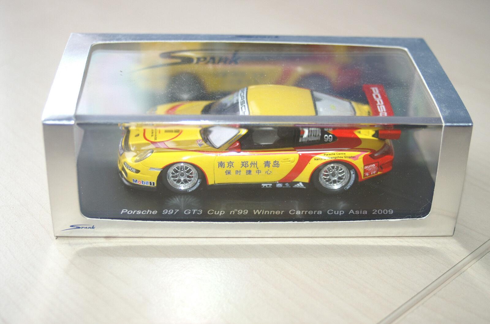 Porsche 911 (997) GT3 Cup - Winner PCCA 2009 - Christian Menzel - Spark - 1 43