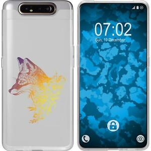 Case-for-Samsung-Galaxy-A80-Silicone-Case-floral-Fox-M1-3-protective-foils