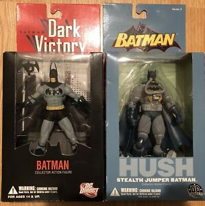Batman-Hush-Stealth-Jumper-and-Dark-Victory-6-034-Action-Figure-DC-New