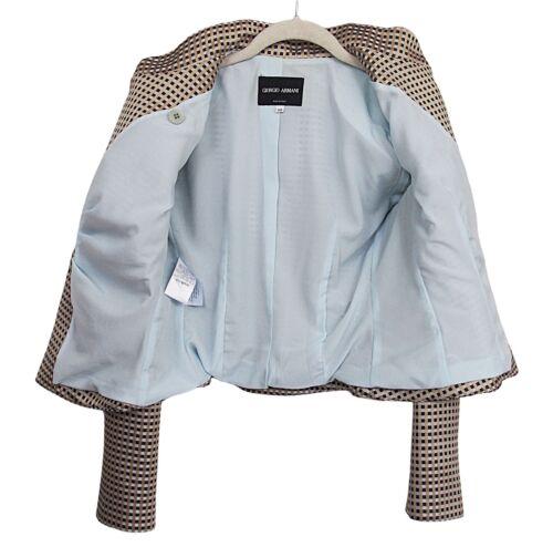 Label Jacket Pleated Black Giorgio Blazer Armani 4 Us 40 Size ExaIwq6pw