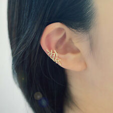 b6bc98b53 1Pair Iridescent Women Clip-on Earrings Cartilage Ear Cuff Clip Wrap Non  Pierced