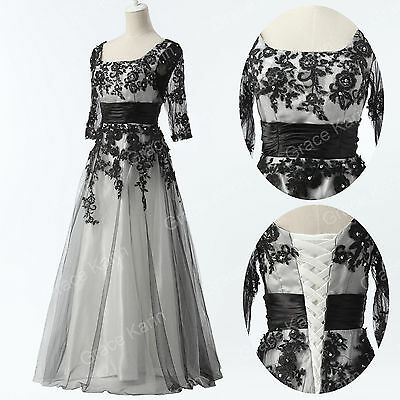 Homecoming Vintage Lace Tulle Ball Gown Evening Prom Bridesmaids Party Dress New