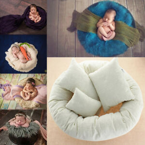 4PCS-Set-Newborn-Photography-Basket-Filler-Wheat-Donut-Posing-Props-Baby-Pillows