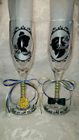 Beauty And The Beast Custom Wedding Glasses