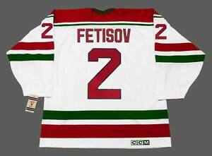 san francisco 59134 eab1c Details about VIACHESLAV FETISOV New Jersey Devils 1991 CCM Vintage  Throwback Home NHL Jersey