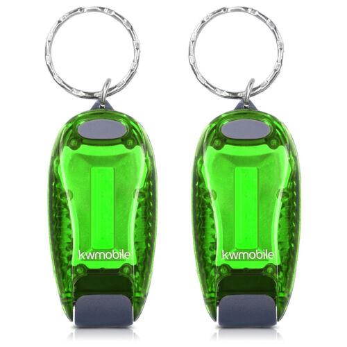 2x LED Sicherheitslicht Dauerlicht Blinklicht Licht Clip Batterien Klett