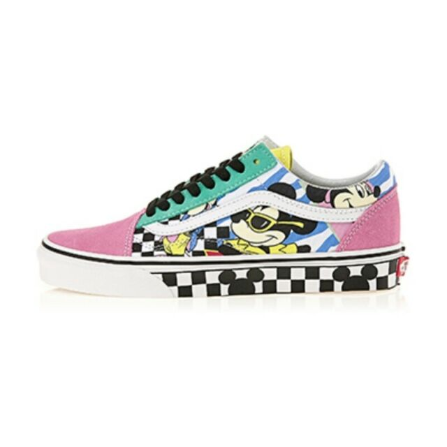 Vans x Disney Mickey Mouse Old Skool Off the wall Skate Sneakers Shoes Size 4 13