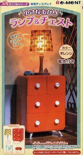 Re-Ment bambolahouse Miniature arancia rosso Chest  Dresser w  lighting Mini Lamp RARE  Ultimo 2018