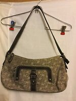 Liz & Co Khaki Floral Jacquard Medium Handbag Purse