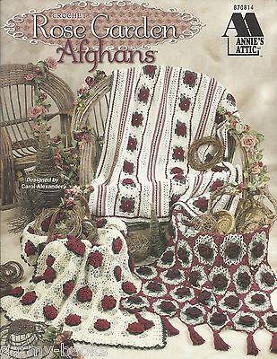 Rose Garden Afghans Carol Alexander Crochet Patterns Annie's Attic 870814 NEW