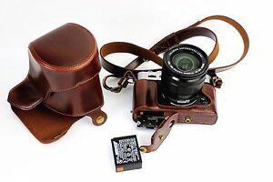 Leather Camera Bag Cover Case For FujiFilm Fuji XT10 X-T10 XT20 Bottom Opening