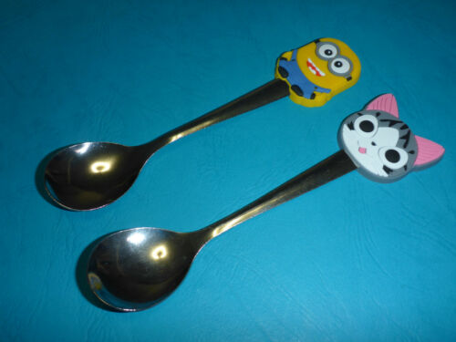Babies Toddlers Young Children/'s Character feeding spoon Minion Pussy Cat