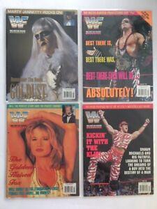 Lot-4-WWF-Magazine-1996-Jan-Feb-Mar-Apr-Goldust-Bret-Hart-Sunny-Shawn-Michaels