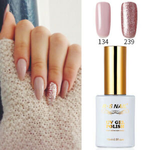 2-PIECES-RS-134-239-Gel-Nail-Polish-UV-LED-Sequined-Pink-Varnish-Soak-Off-15ml