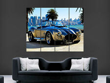 SHELBY AC COBRA CAR CLASSIC ART WALL PICTURE POSTER  GIANT HUGE !