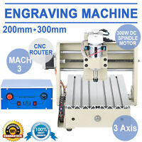 3 Axis Engraver Cnc Router Engraving Drilling Milling Machine Cutter Desktop