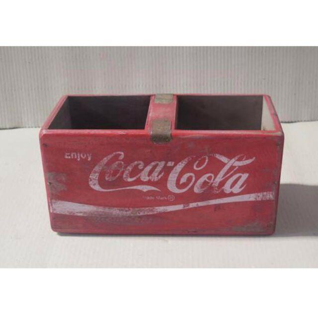 box COKE BOTTLE CRATE Retro style COCA COLA wooden storage trug