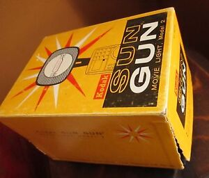 TESTED-30-DAY-GUARANTEE-Vintage-KODAK-Sun-Gun-Movie-Light-Model-2-Original-Box
