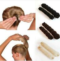 2x Sponge Hair Styling Donut Bun Maker Magic Former Ring Shaper Styler Tools New