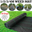 thumbnail 2 - Pegs + Heavy Duty Weed Control Membrane Weed Fabric Mat Garden Ground Landscape