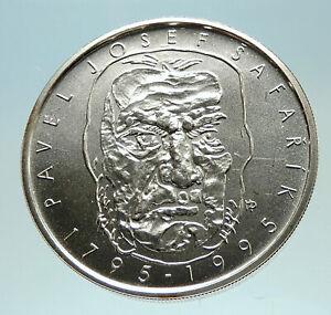 1995-CZECH-REPUBLIC-Pavel-Josef-Safarik-Genuine-Silver-200-Korun-Coin-i76822