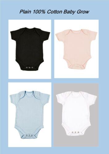Personalised Baby Grow Babygrow Short Sleeve Bodysuit Vest Newborn 100/% Cotton