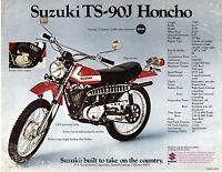 1972 Suzuki Ts-90j Honcho 89cc Motorcycle Sales Brochure, (reprint) $5.00