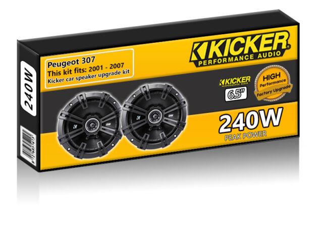 """Peugeot 307 Front Door Speakers Kicker 6.5"""" 17cm car speaker upgrade 240W"""