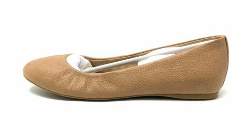 Bass /& Co Womens Felicity Ballet Flat Shoe Tan Brown Leather Size 6.5 M G.H