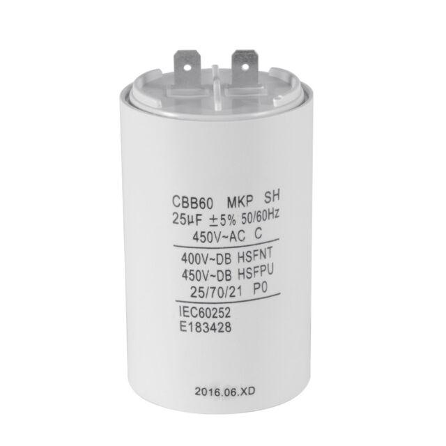 CBB60 25uF 450V AC Motor Run Start Capacitor 50/60Hz for Washing Machine HS837