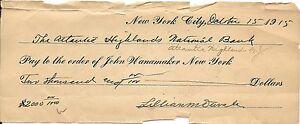 Rare Carreaux 1915 Pour John Wanamaker New York ~ Lillian Duvale Estate~ Fr /