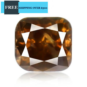 0 212ct Diamond Yellowish Cognac Brown Color Natural Earth Mined Top