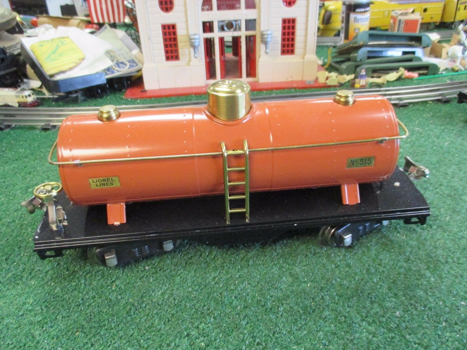 LIONEL PREWAR 515 TERRA-COTTA TANK CAR C8 L N COND  BEAUTIFUL REST 1927-40