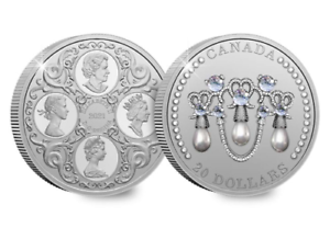 Canada 2021 Lovers Knot Tiara Silver Coin in honour of the Queen's 95th birthday