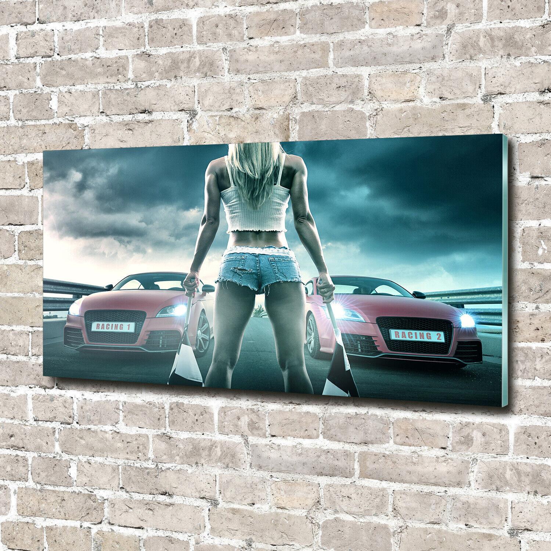 Acrylglas-Bild Wandbilder Druck 140x70 Deko Fahrzeuge Beginn des Rennens
