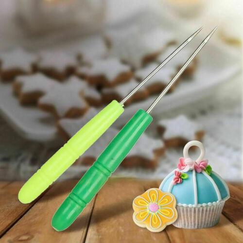 Stainless .Steel Stir Icing Sugar Scriber Needle Baking Craft Too Fondant Y R5E6