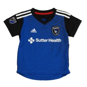 the latest 5487f 081b2 Details about San Jose Earthquakes Adidas MLS Toddler Home Blue Soccer  Jersey