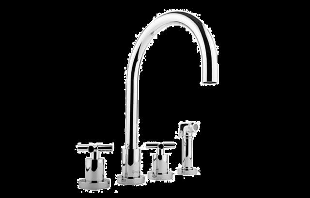 Graff G-4320-C4-SN Infinity Kitchen Faucet With Side Spray Steelnox Satin  Nickel