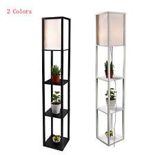 Modern Shelf Floor Light Off White Lamp Shade Storage Bed Living Room Home Black