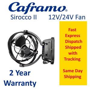BLACK Caframo Sirocco II Fan  12v 24v Volt Sirocco 2 Ac  Caravan RV Motorhome
