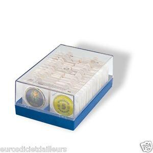 Coffret-pour-100-pieces-sous-etui-HB-ou-cadre-bleu-LEUCHTTURM-Livre-neuf