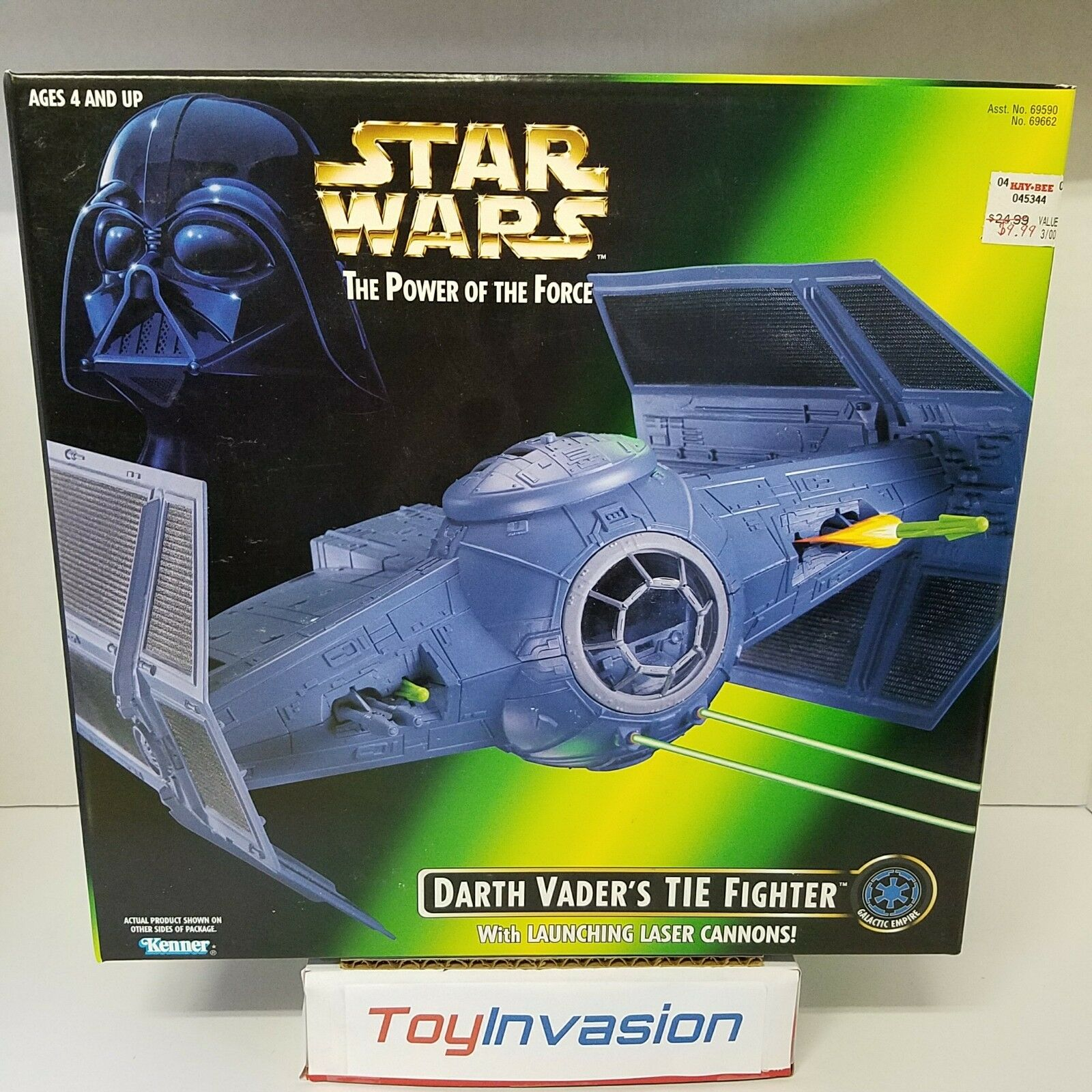Hasbro 1996 Star Wars Power of the Force Darth Vader's Tie Fighter Collectible