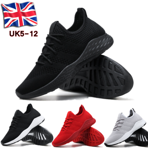 Mens-Memory-Foam-Casual-Walking-Running-Gym-Sport-Slip-On-Trainers-Shoes-Size-UK