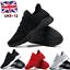 Mens-Memory-Foam-Casual-Walking-Running-Gym-Sport-Slip-On-Trainers-Shoes-Size-UK miniatura 1